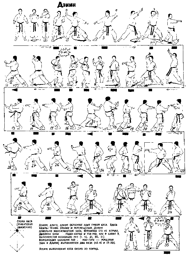 Ката каратэ шотокан - Дзиин