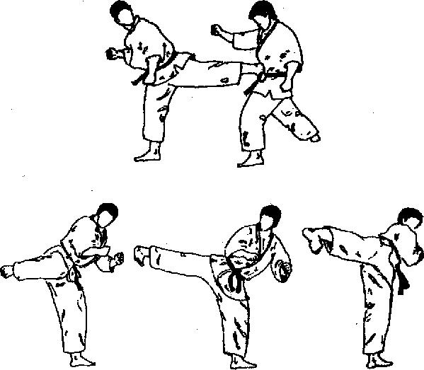 Схема ударов по карате